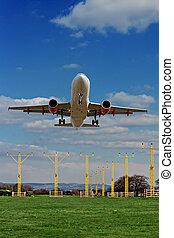 Passenger plane coming into land
