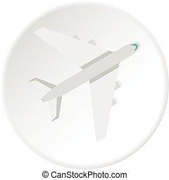 Passenger plane icon circle