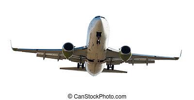 Passenger plane isolated
