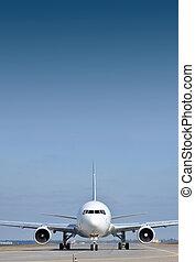 Passenger plane on runway