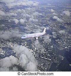 Passenger plane.