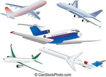 Passenger planes. Vector illustration for you design