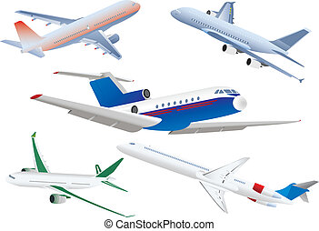 Passenger planes. Vector illustration for you design