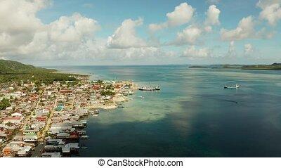 Dapa Ferry Terminal. Siargao, Philippines. - Passenger port...