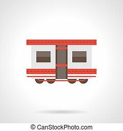 Passenger rail transportation flat vector icon
