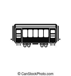 Passenger railway waggon icon - Passenger railway waggon ...