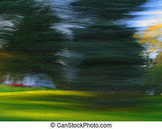 Passenger Seat - view from the passenger seat of a moving...