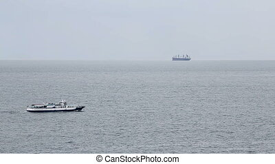 Passenger ship at open sea