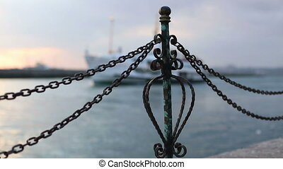 Passenger Ship - Haydarpasa Port and Station Building at...