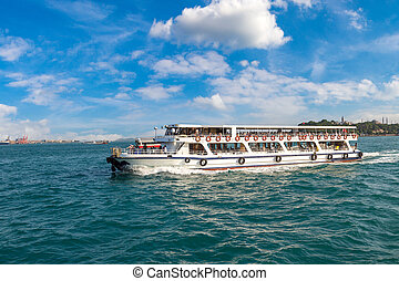 Passenger ship in Istanbul - Passenger ship in the Gulf of...