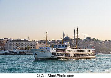 Passenger ship in Istanbul