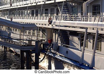 Passenger ship - Big passenger ship on the river in Moscow,...