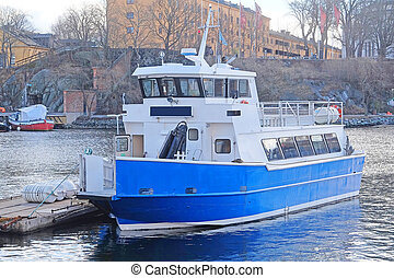passenger ship - Passenger ship in Stockholm, Sweden