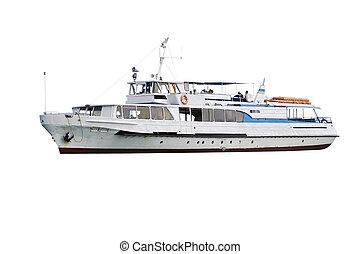 passenger ship - The image of passenger ship under the white...