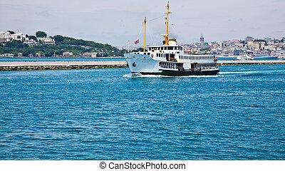 passenger ship at istanbul