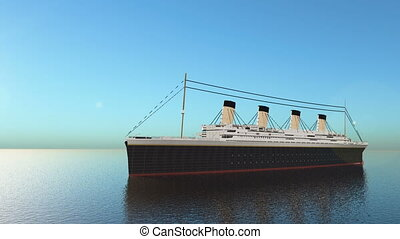 Passenger ship - 3D CG rendering of the passenger ship.