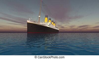 passenger ship  - goes on voyage