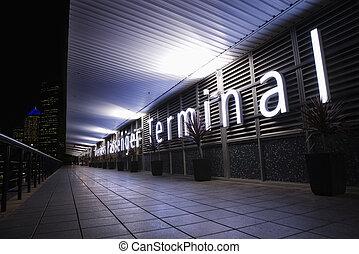 Passenger terminal sign - Overseas Passenger Terminal at...