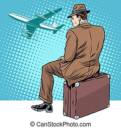 passenger the airport waiting for departure
