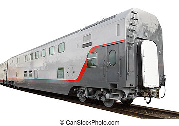 passenger train car - The image of a two-storeyed passenger...