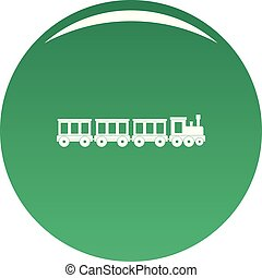 Passenger train icon vector green