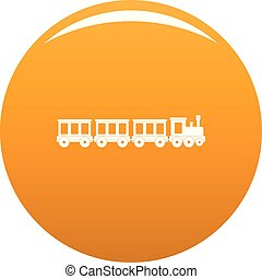 Passenger train icon vector orange