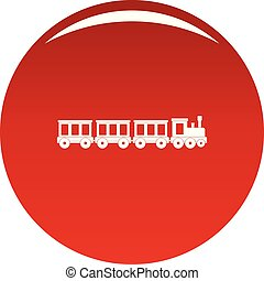 Passenger train icon vector red