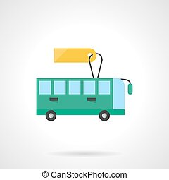 Passenger transportation flat color vector icon
