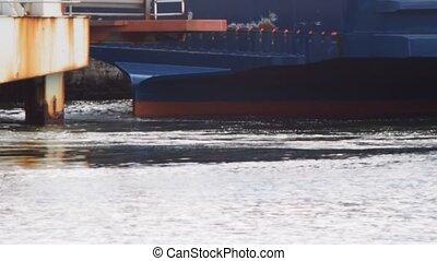 Passenger vessel approaching terminal