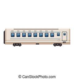 Passenger wagon icon, cartoon style