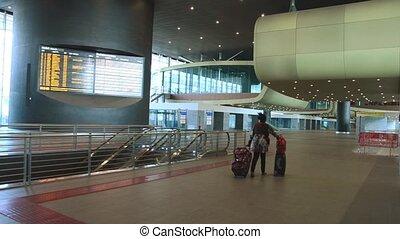 passenger walking at terminal stati