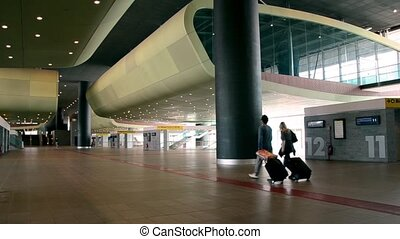 passengers at terminal
