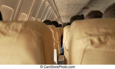 Passengers in Airplane