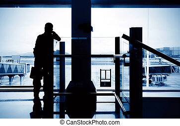 Passengers in Shanghai Pudong Airport - passenger in the...