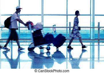 Passengers in Shanghai Pudong International Airport -...