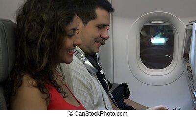 Passengers Waiting On Airplane