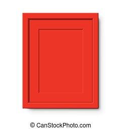 passepartout, rosso, wall., cornice, appendere