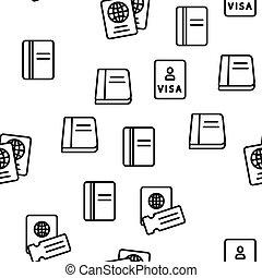 passeport, seamless, modèle, vecteur