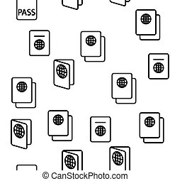 passeport, seamless, vecteur, modèle