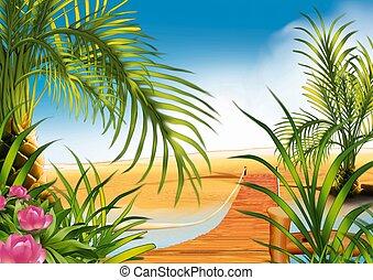 passerella, spiaggia