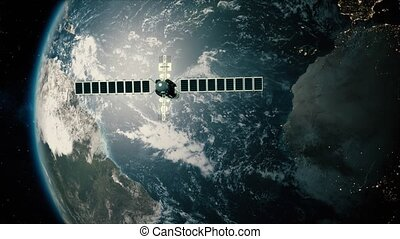passes, satellite, télescope, la terre