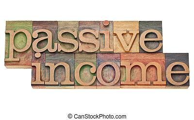 passief, inkomen