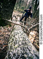 Passing a log