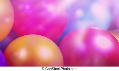 Passing Balloons In Party Lights