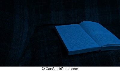 Passing Book On Chair In The Dark - Moving slowly past an...