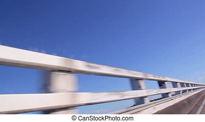 Passing Bridge Railings - Passing bridge railings at speed...