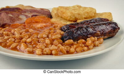 Passing Cooked Breakfast With Sausages - Moving past cooked...