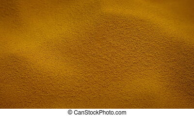 Passing Fine Orange Powder - Passing pile of orange powder