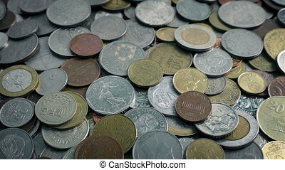 Passing International Old Coins Pile
