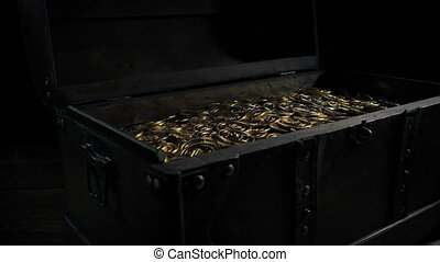 Passing Large Chest Of Gold Coins